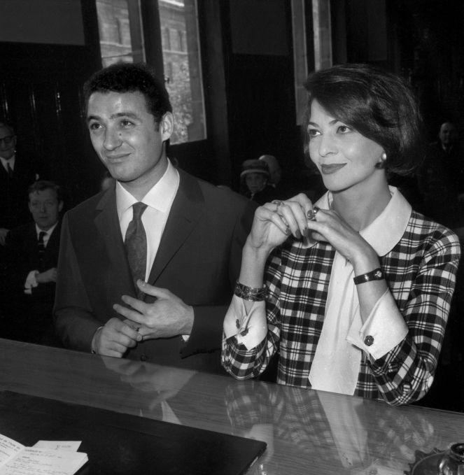 Mariage de Claude Brasseur et de Peggy Roche