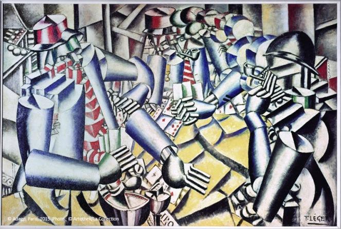 Léger, Fernand. La partie de cartes. 1917. Peinture. Otterlo, Musée Kröller-Müller.